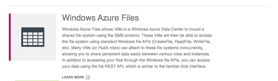 Azure Files Preview